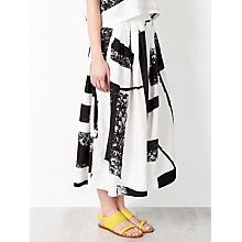 Buy Kin by John Lewis Laura Slater Limited Edition Check Print Skirt, Black/White Online at johnlewis.com