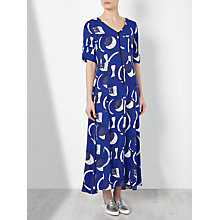 Buy Kin by John Lewis Laura Slater Limited Edition Geometric Linear Print Dress, Blue Online at johnlewis.com