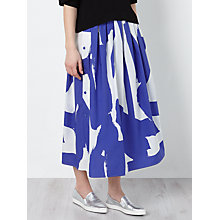 Buy Kin by John Lewis Laura Slater Limited Edition Gestural Print Poplin Skirt, Multi Online at johnlewis.com