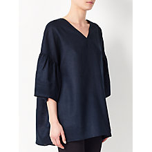 Buy Kin by John Lewis Laura Slater Limited Edition Coated Smock Top, Indigo Online at johnlewis.com