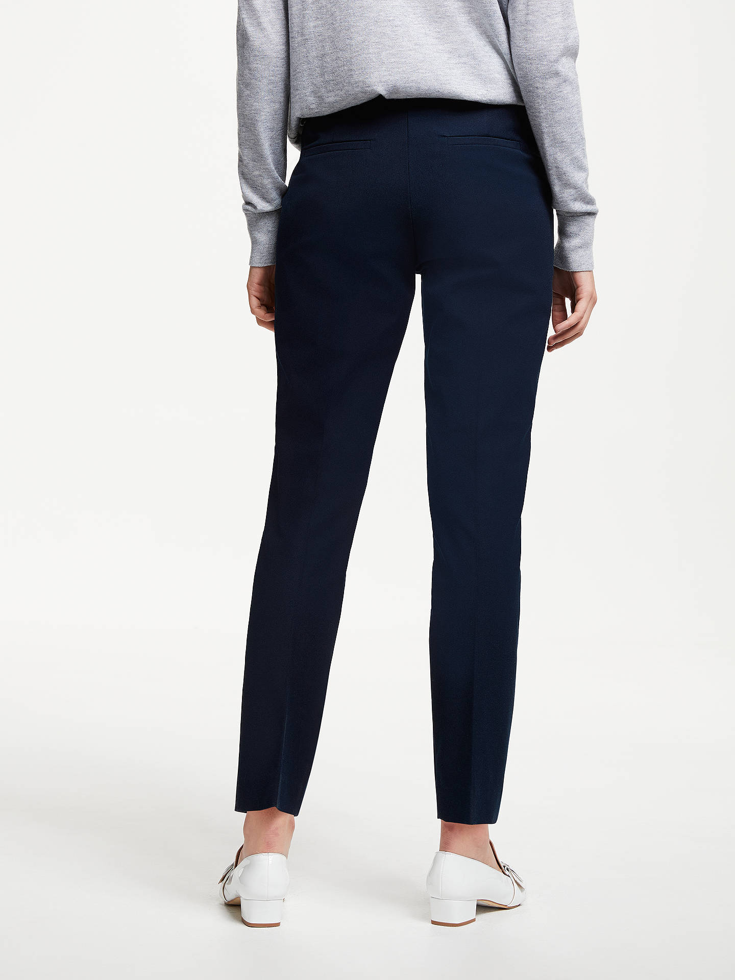 BuyJohn Lewis & Partners Dionne Trousers, Navy, 8 Online at johnlewis.com