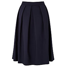 Buy John Lewis Fredericka Cotton Skirt, Navy Online at johnlewis.com