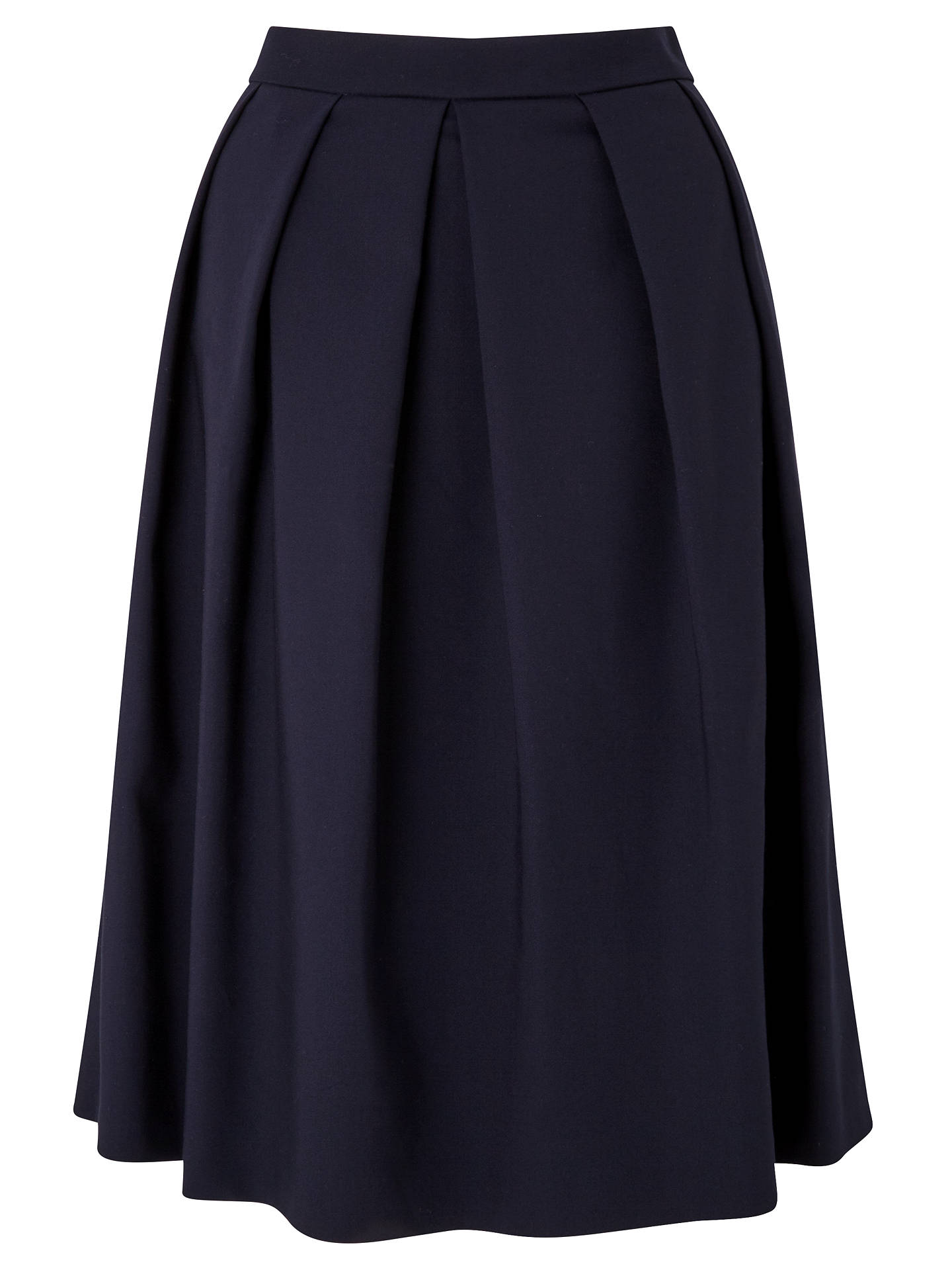 Buy John Lewis Fredericka Cotton Skirt, Navy, 8 Online at johnlewis.com