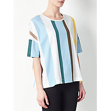 Buy Kin by John Lewis Placement Stripe T-Shirt, Multi Online at johnlewis.com