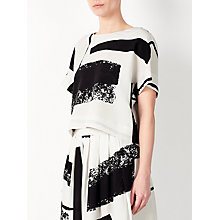 Buy Kin by John Lewis Laura Slater Limited Edition Check Wrap Top, Black/White Online at johnlewis.com