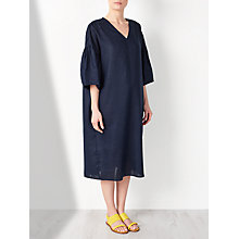 Buy Kin by John Lewis Laura Slater Limited Edition Coated Linen Dress, Indigo Online at johnlewis.com