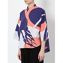 Buy Kin by John Lewis Laura Slater Limited Edition Collage Print Shirt, Pink Online at johnlewis.com
