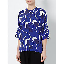 Buy Kin by John Lewis Laura Slater Limited Edition Geometric Linear Shirt, Blue Online at johnlewis.com