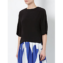 Buy Kin by John Lewis Laura Slater Limited Edition Back Tie Top, Navy Online at johnlewis.com