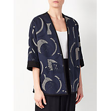 Buy Kin by John Lewis Laura Slater Limited Edition Geometric Linear Jacket, Blue Online at johnlewis.com