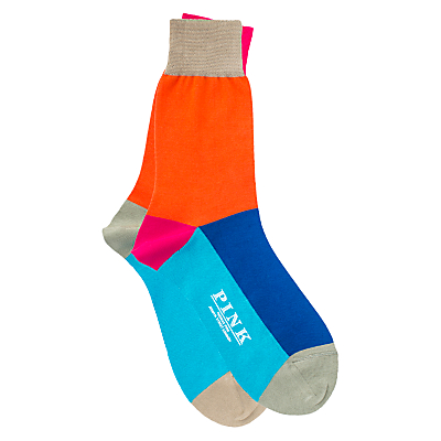 Thomas Pink Wright Colour Panel Socks