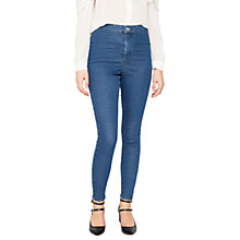 Buy Miss Selfridge Steffi Sulphur Jeans, Mid Wash Denim Online at johnlewis.com