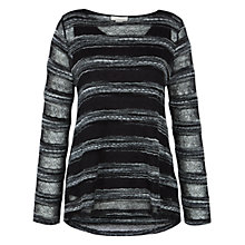 Buy Celuu Annabelle Jacquard Top, Black Online at johnlewis.com