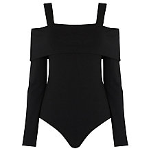Buy Warehouse Off the Shoulder Body, Black Online at johnlewis.com