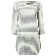 Buy White Stuff Shashiko Stripe Jersey Tunic, Grey Online at johnlewis.com