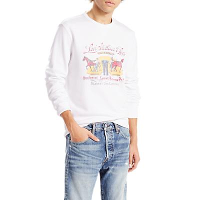 Levi's Graphic Crew Neck Sweatshirt, White