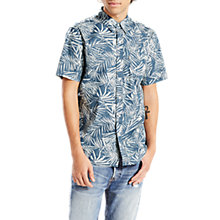 Buy Levi's Sunset One Corduroy Pocket Short Sleeve Shirt, Dress Blues Online at johnlewis.com