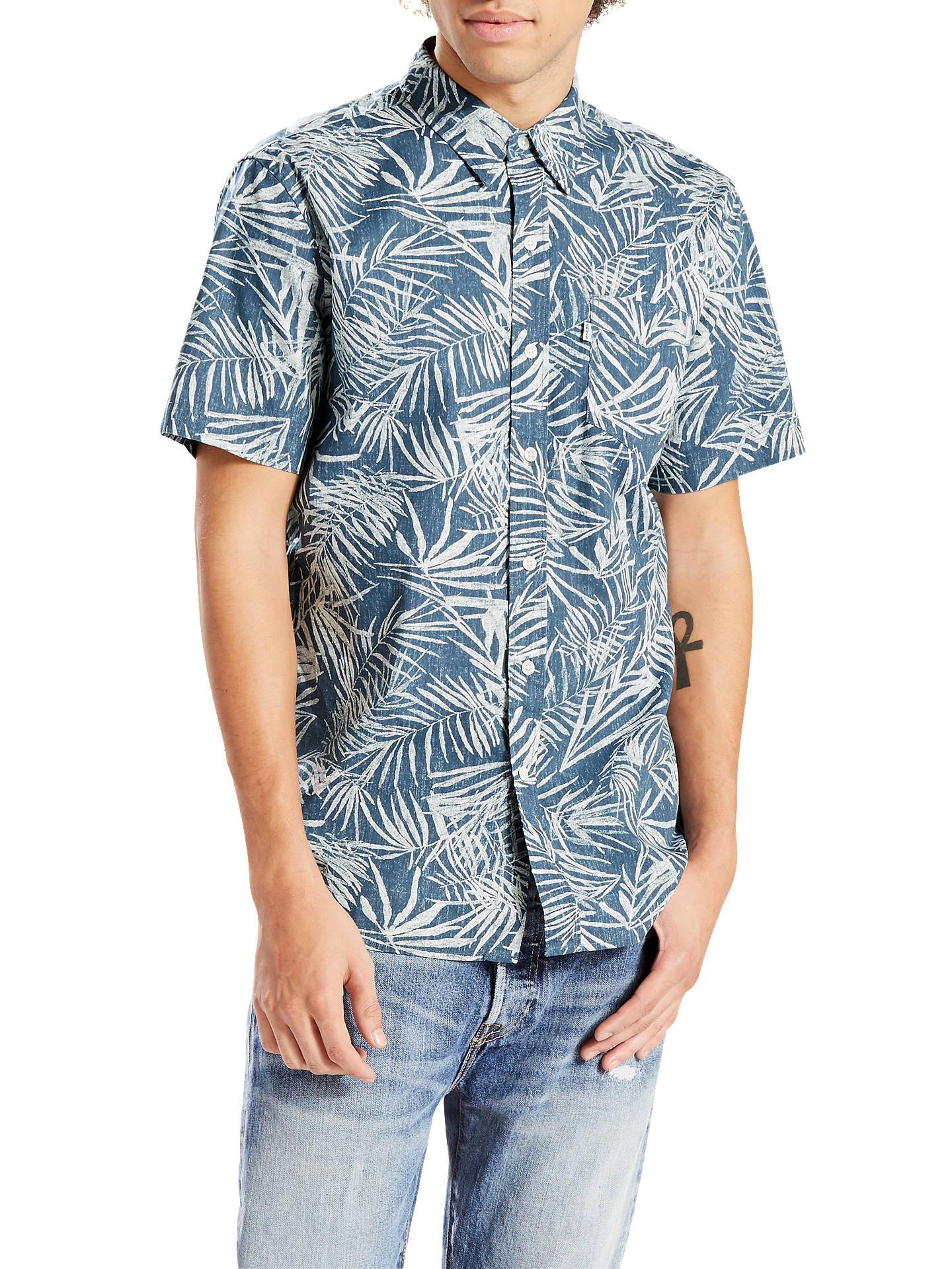e688defc2 Buy Levi's Sunset One Corduroy Pocket Short Sleeve Shirt, Dress Blues, S  Online at ...