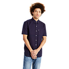 Buy Levi's Short Sleeve Sunset 1 Pocket Shirt, Caviar Online at johnlewis.com