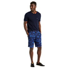 Buy Levi's Straight Calliope Print Chino Shorts, Rich Blue Online at johnlewis.com