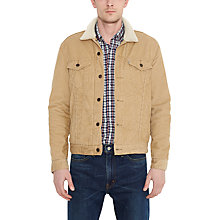 Buy Levi's The Sherpa Corduroy Trucker Jacket, Harvest Gold Online at johnlewis.com
