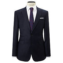 Buy John Lewis Super 120s Wool Stripe Tailored Fit Suit Jacket, Navy Online at johnlewis.com