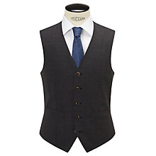 Buy Chester by Chester Barrie Semi Plain Wool Slim Fit Waistcoat, Grey Online at johnlewis.com