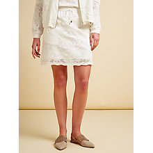 Buy Modern Rarity Palm Lace Skirt, White Online at johnlewis.com