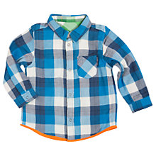 Buy Polarn O. Pyret Baby Checked Shirt, Blue/Green Online at johnlewis.com
