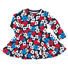 Buy Polarn O. Pyret Girls' Floral Dress, Blue/White Online at johnlewis.com