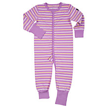 Buy Polarn O. Pyret Baby Striped Onesie Playsuit Pyjamas Online at johnlewis.com