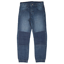 Buy Polarn O. Pyret Children's Unisex Patch Jeans, Denim Online at johnlewis.com