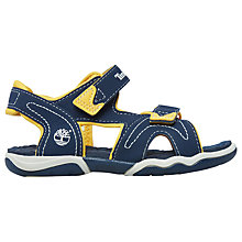 Buy Timberland Children's Adventure Seeker Rip-Tape Sandals, Navy/Yellow Online at johnlewis.com