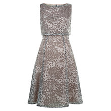 Buy Hobbs Luisa Fit and Flare Dress, Ivory/Multi Online at johnlewis.com