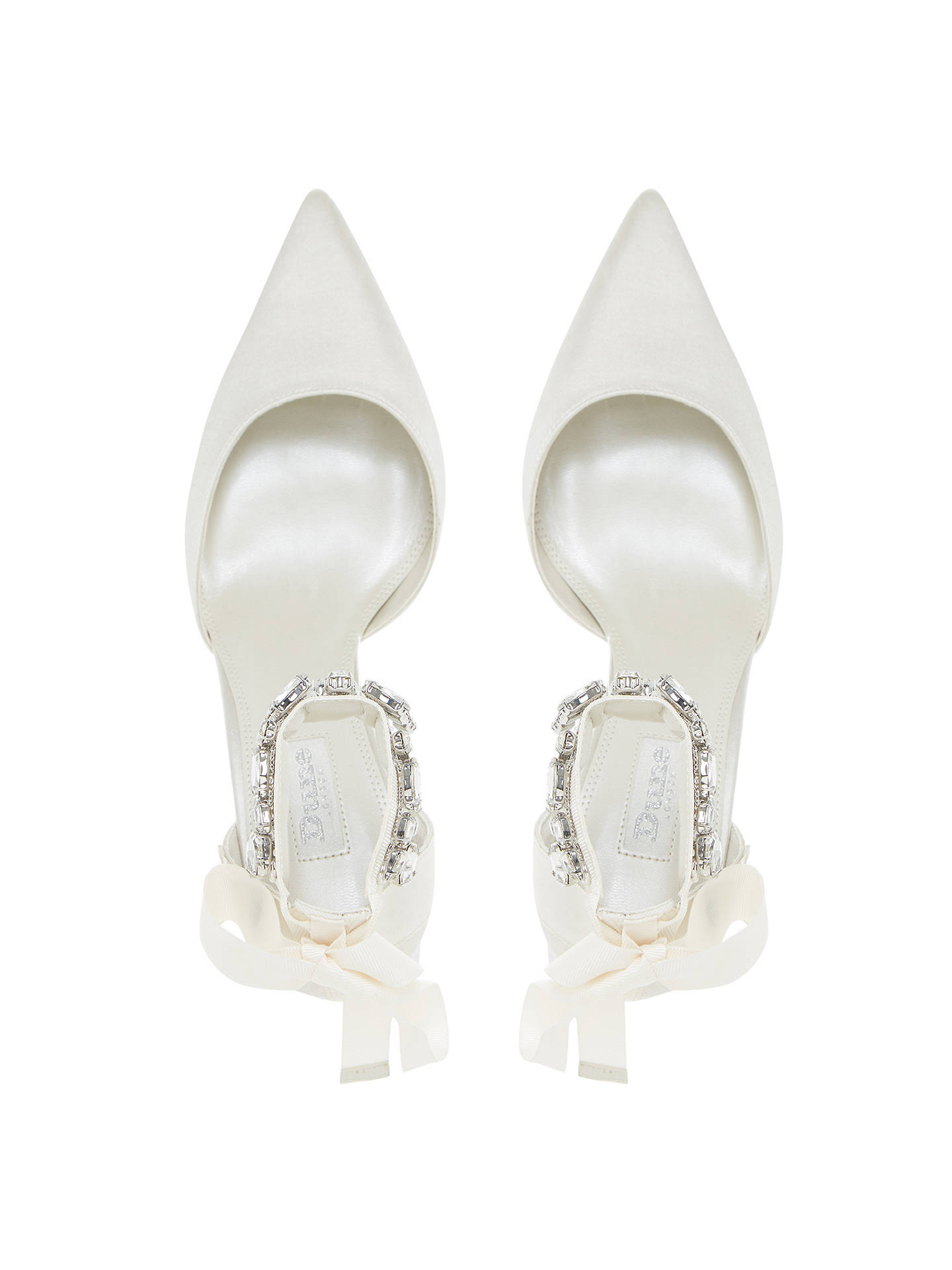BuyDune Bridal Collection Diamond Embellished Pointed Toe Court Shoes, Ivory, 5 Online at johnlewis.com