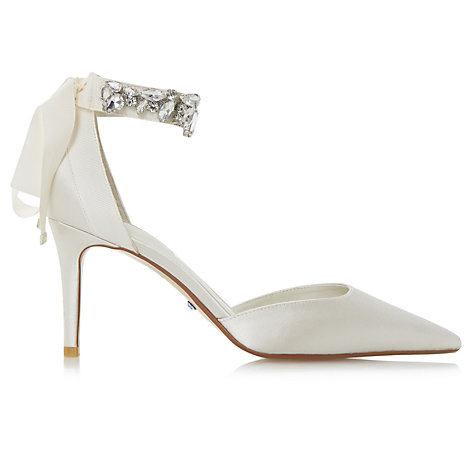 Buy Dune Bridal Collection Diamond Embellished Pointed Toe Court Shoes, Ivory Online at johnlewis.com