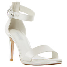 Buy Dune Bridal Collection Miami Stiletto Heeled Sandals, Ivory Online at johnlewis.com