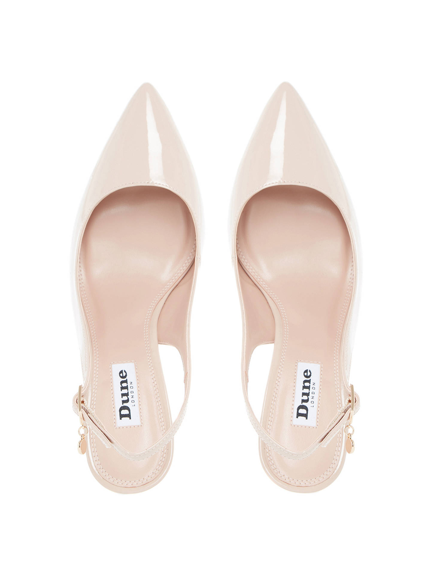 b219bbddda ... Buy Dune Cathy Slingback High Heel Court Shoes, Nude Patent, 3 Online  at johnlewis ...