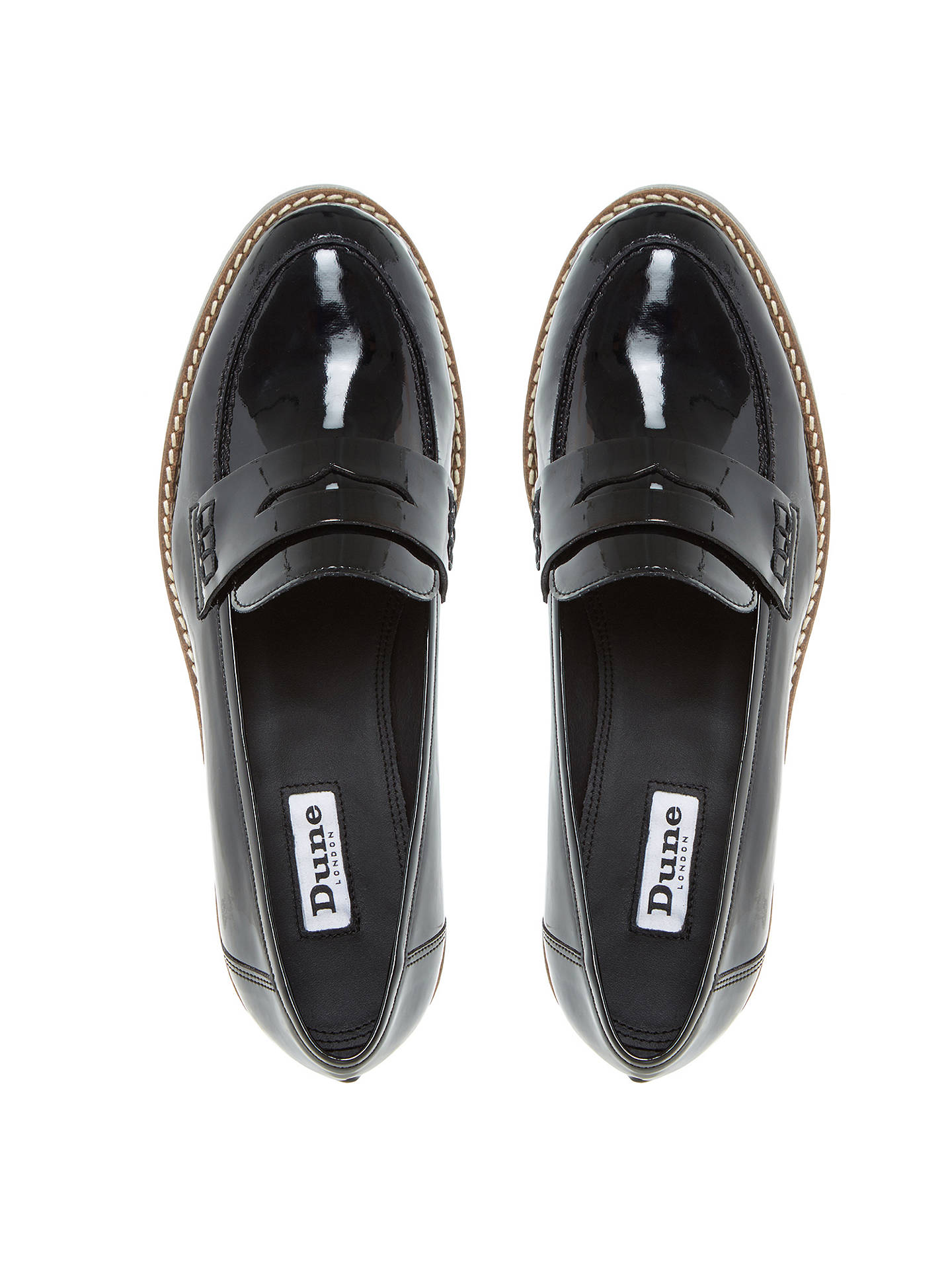 a6a62c69b24 ... Buy Dune Graphic Flatform Penny Loafers