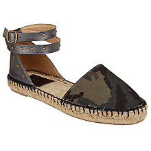 Buy AND/OR Leda Camo Two Part Espadrilles, Multi Online at johnlewis.com