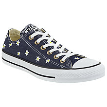 Buy Converse Chuck Taylor All Star Ox Embroidered Trainers, Navy Online at johnlewis.com