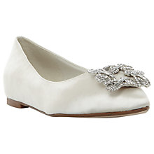 Buy Dune Bridal Collection Briella Jewel Ballet Pumps, Ivory Online at johnlewis.com