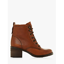 Buy Dune Patsie D Lace Up Ankle Boots, Tan Online at johnlewis.com