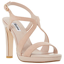 Buy Dune Maya Cross Strap Block Heeled Sandals, Blush Online at johnlewis.com
