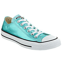 Buy Converse Chuck Taylor All Star Canvas Ox Low-Top Trainers, Cyan Online at johnlewis.com