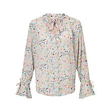 Buy Pyrus Annie Printed Tie Blouse, Multi Online at johnlewis.com