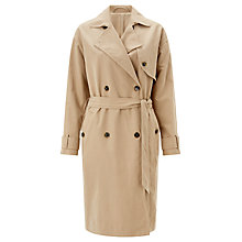 Buy Samsoe & Samsoe Theon Trench Coat, Incense Online at johnlewis.com