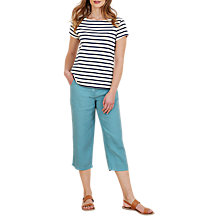 Buy Seasalt Brawn Point Cropped Trousers, Wave Online at johnlewis.com
