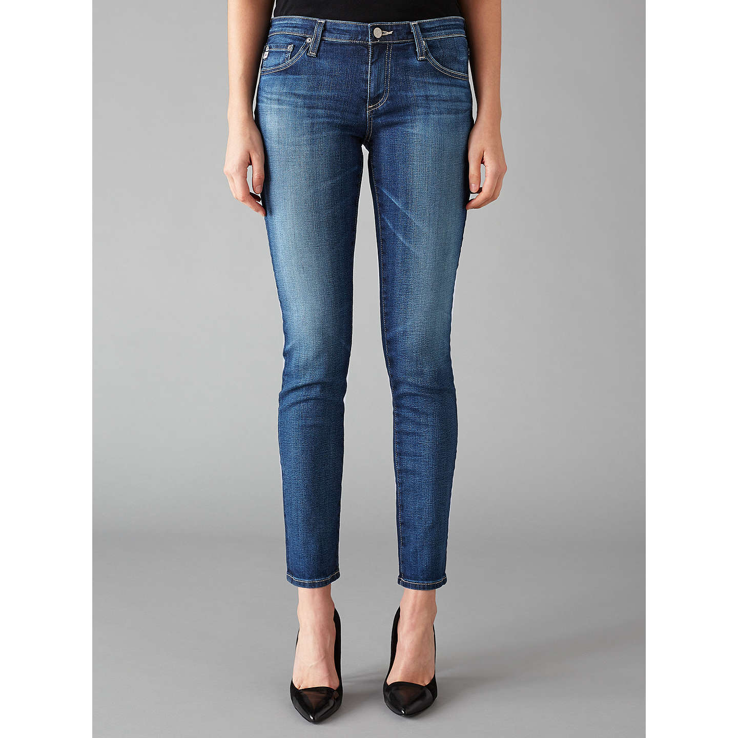 BuyAG The Stilt Mid Rise Skinny Jeans, 11 Years Journey, 24 Online at  johnlewis ...