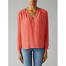 Buy Pyrus Florence Silk Blouse, Coral Online at johnlewis.com